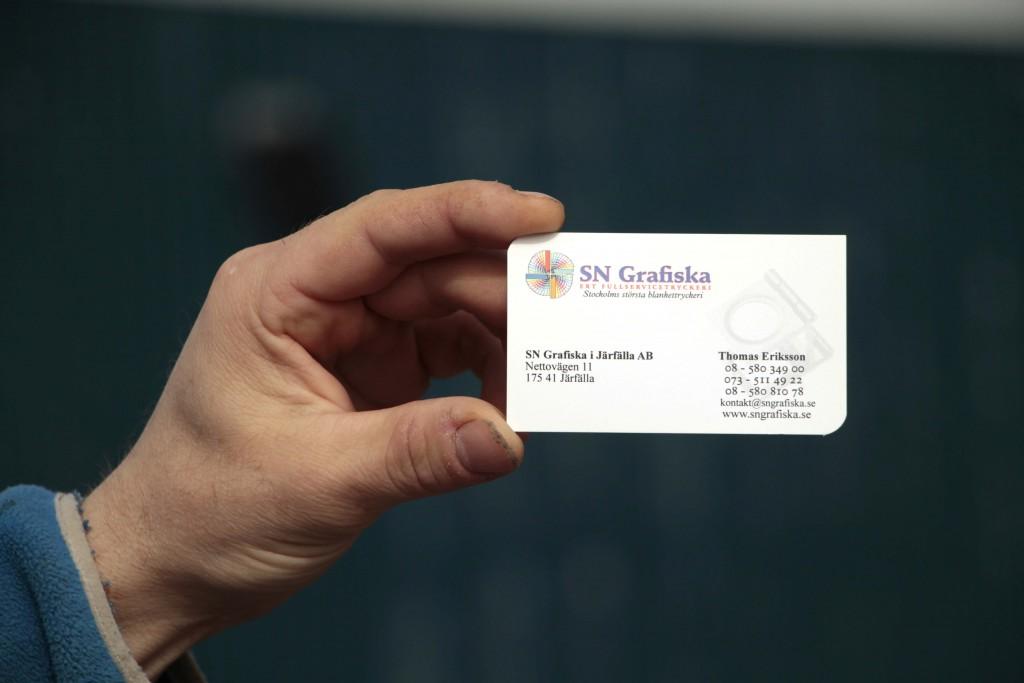 Exempel på visitkort